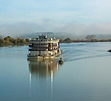 A guided steamer - Murray Princess, Murray Bridge, South Australia by Mark Richards
