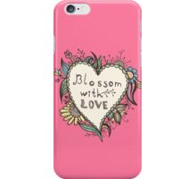 Blossoming heart shape iPhone Case/Skin