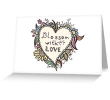 Blossoming heart shape Greeting Card
