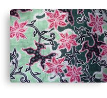 Batik background from indonesia, asian Canvas Print