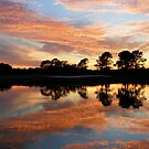 Flaming skies over Texas by Marita Sutherlin