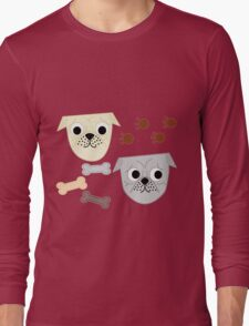 Pugs and Paws Long Sleeve T-Shirt