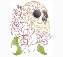 Sugar Skull with Roses by sale