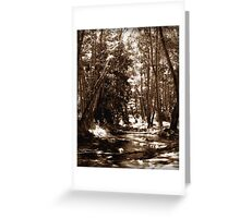 Just Around the Bend Greeting Card
