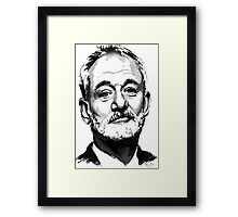 Bill Murray Sketch Love Bill Framed Print