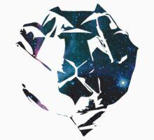 Cosmic Space Origami Lion Kids Tee