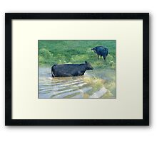 Cloud Swimming Framed Print