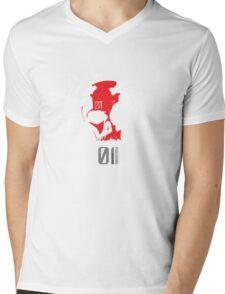 Mk.01 Skull Mens V-Neck T-Shirt