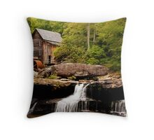 Glade Creek Grist Mill - Southern West Virginia Throw Pillow