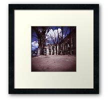 The Ghost of the Old Railroad Hospital Framed Print