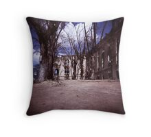 The Ghost of the Old Railroad Hospital Throw Pillow