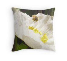 a bee in time Throw Pillow