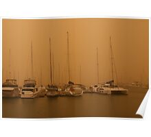 Manly Harbour Dust Storm Poster