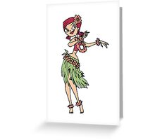 Zoey does the Hula Greeting Card