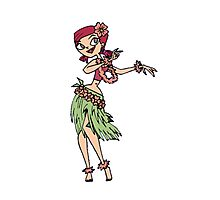 Zoey does the Hula Photographic Print