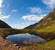 small mountain lake by sergeylukianov
