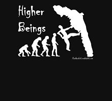 Higher Beings - White text Unisex T-Shirt