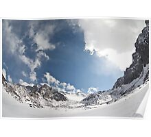 Sky and mountains Poster
