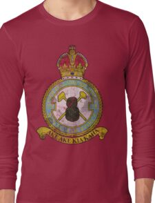75(NZ) Squadron RAF Full Colour crest VINTAGE Long Sleeve T-Shirt