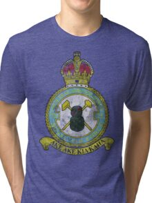 75(NZ) Squadron RAF Full Colour crest VINTAGE Tri-blend T-Shirt