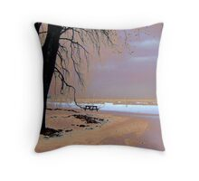 Winter at the Beach Throw Pillow