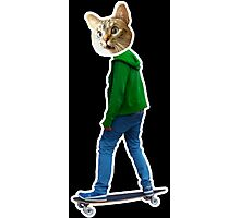 Skater Cat 1 Photographic Print
