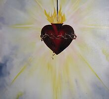 Sacred Heart of Jesus - Emblem of Visitation by JeffeeArt4u