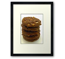 choc chip cookies Framed Print