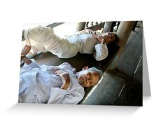 Reclining Gentleman Greeting Card