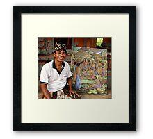 Artist, Ubud, Bali Framed Print