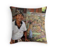 Artist, Ubud, Bali Throw Pillow