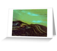 a tribute....blue green Greeting Card