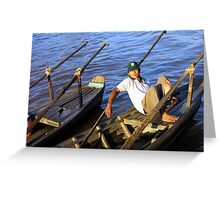 Waiting Boatman Greeting Card