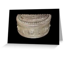 Silver Tobacco Box, Northern Thailand Greeting Card