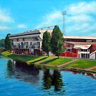 Nottingham reflections - Trent Bridge IIII by Carole Russell