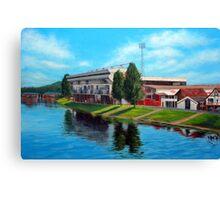 Nottingham reflections - Trent Bridge IIII Canvas Print
