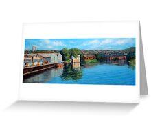 Nottingham reflections - Trent Bridge III Greeting Card