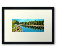 Nottingham reflections - Trent Bridge Framed Print