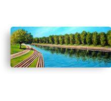 Nottingham reflections - Trent Bridge Canvas Print