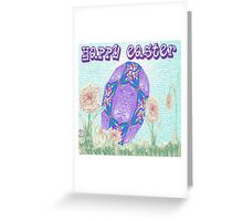 Happy Easter or Pretty Foil Egg Greeting Card