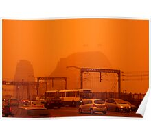 The Red Centre Comes To The Sydney Harbour Bridge Poster