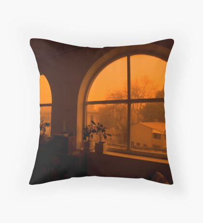 Dust Storm Throw Pillow