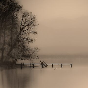 Haze Over Starnberger See by David Henderson