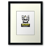 Heavy Ken Framed Print