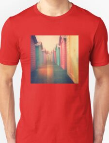 Beach Huts 02D - Retro T-Shirt