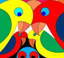 Colourful parrots Sticker