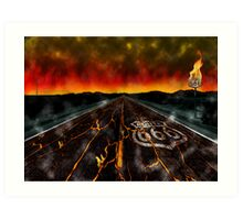 Route 666 Art Print