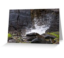 Exploding Wave Greeting Card