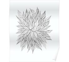 Lovely Lined Leaves Poster