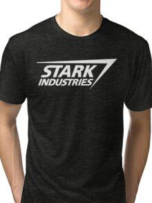 Stark Industries-White Tri-blend T-Shirt
